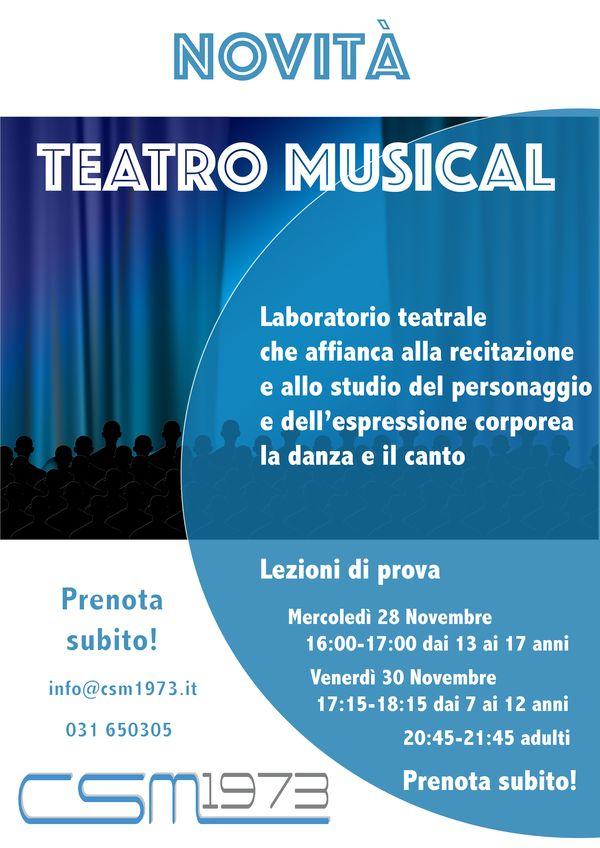 Una bellissima novità! Teatro Musical Prenota la lezione di prova. info@csm1973.it 031 650305 Centro Sportivo Merone www.csm1973.it #piscine #palestre #danza #fitness #ems #merone #erba #como #lecco